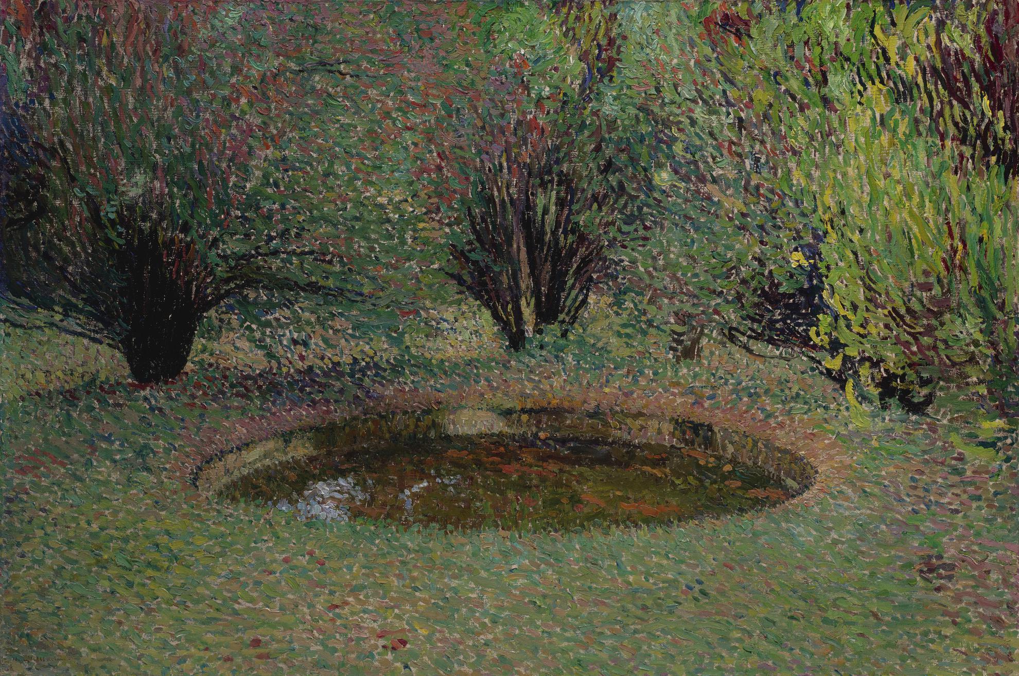 Henri Martin-Marquayrol, Le Bassin Aux Thuyas-1920