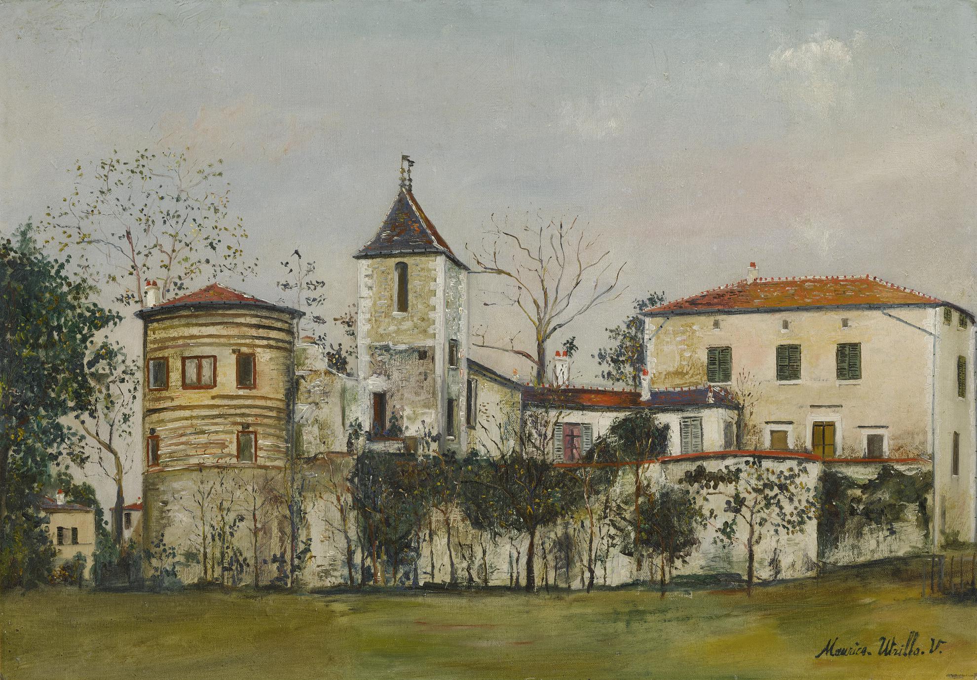 Maurice Utrillo-Le Chateau De Saint-Bernard (Ain)-1923