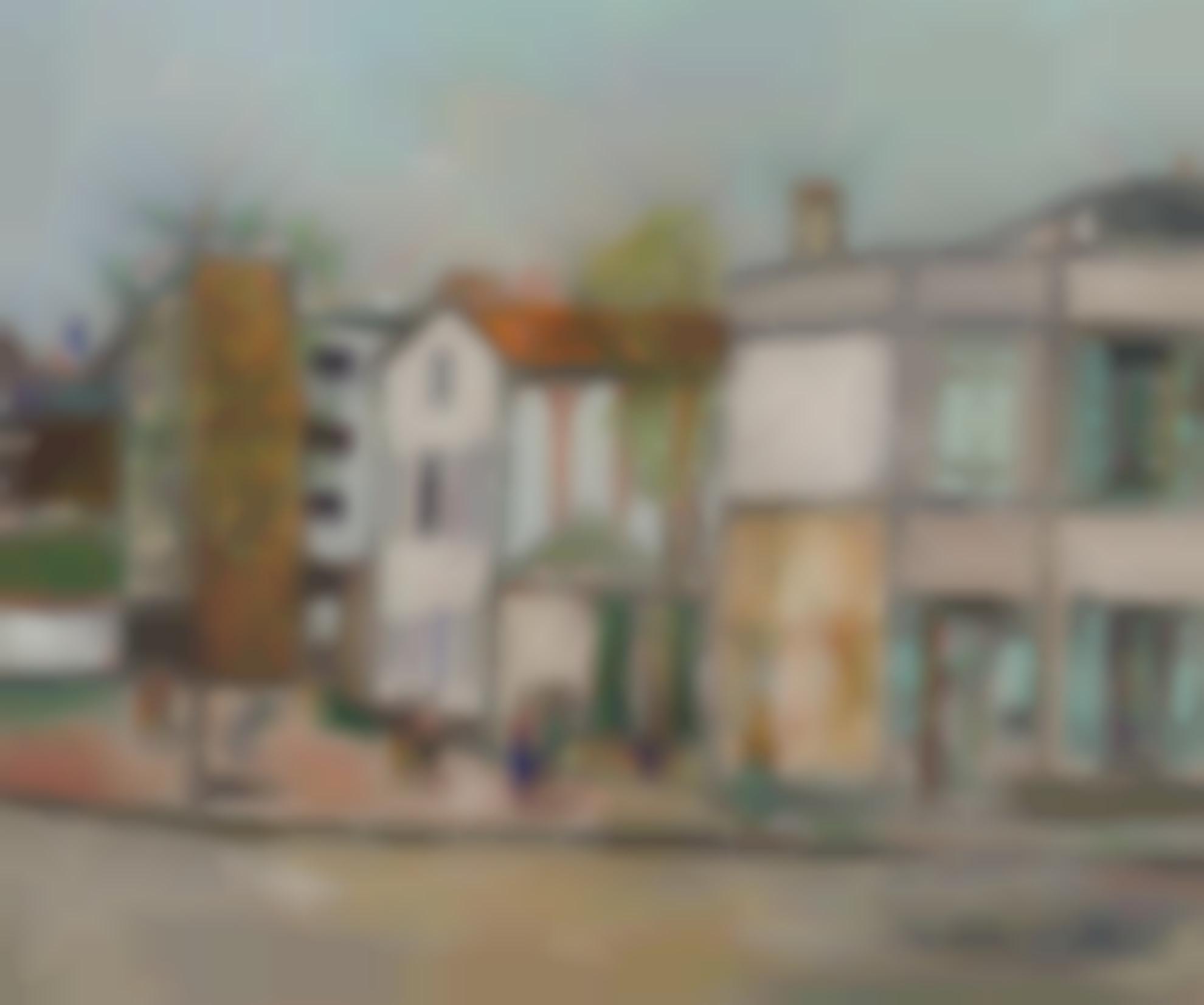 Maurice Utrillo-Rue A Montmartre-1950