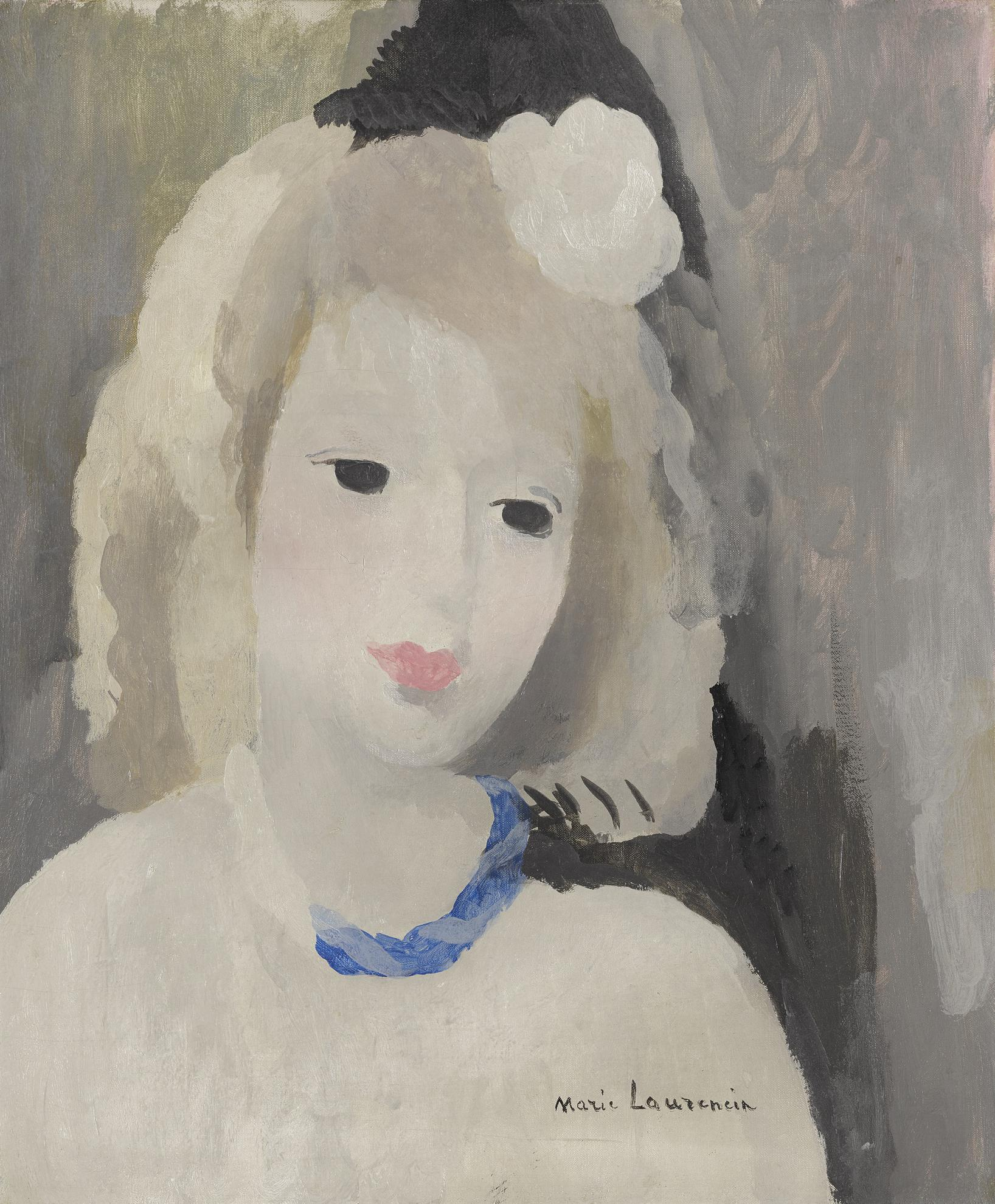 Marie Laurencin-Le Collier Bleu-1928