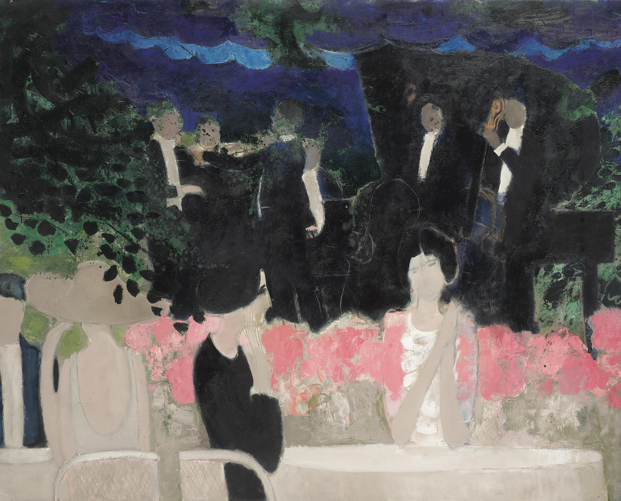 Andre Brasilier-La Garden-Party-1963