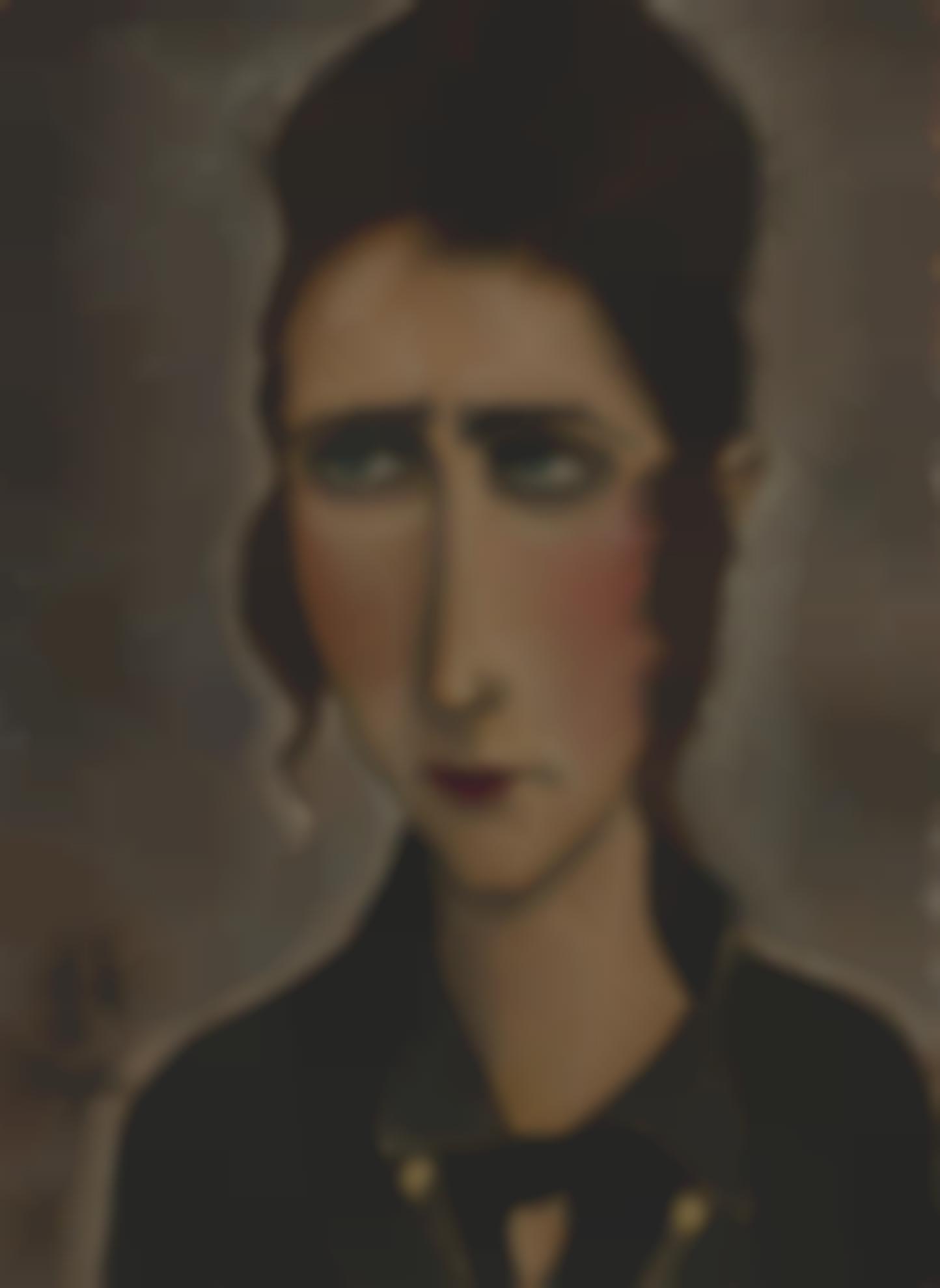 Tsuguharu Foujita-Portrait De Femme-1917