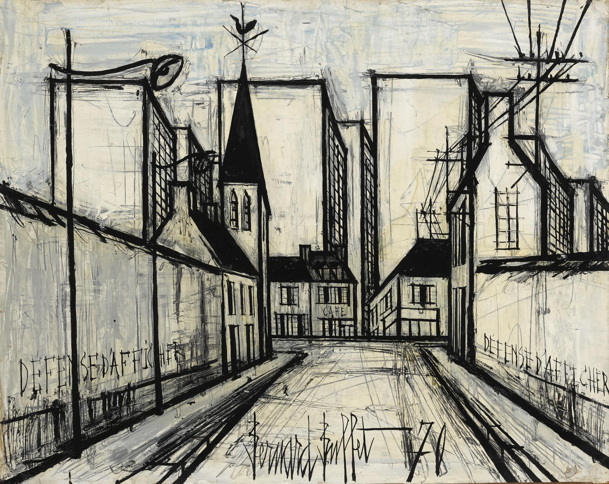 Bernard Buffet-Buildings En Banlieue-1970