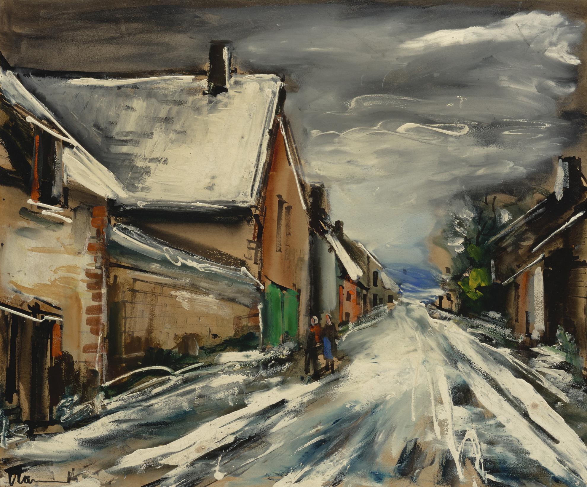 Maurice de Vlaminck-Rue En Hiver-1930