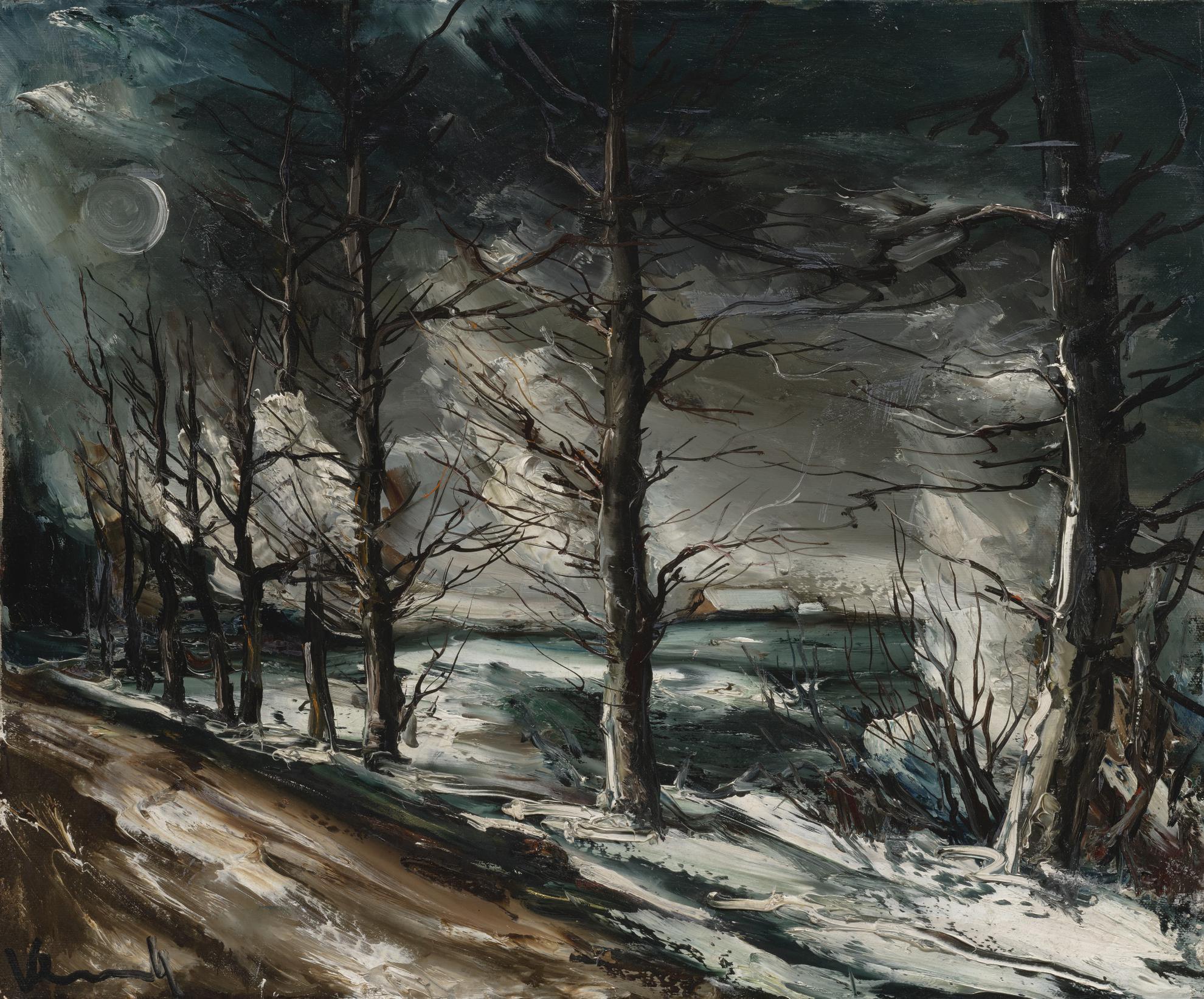 Maurice de Vlaminck-Claire De Lune Sur La Neige-1938