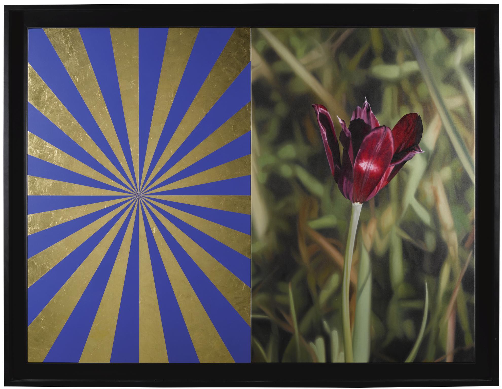 Mustafa Hulusi-Cyprus Black Tulip 3 (M) And Blue And Gold Expander (M)-2013