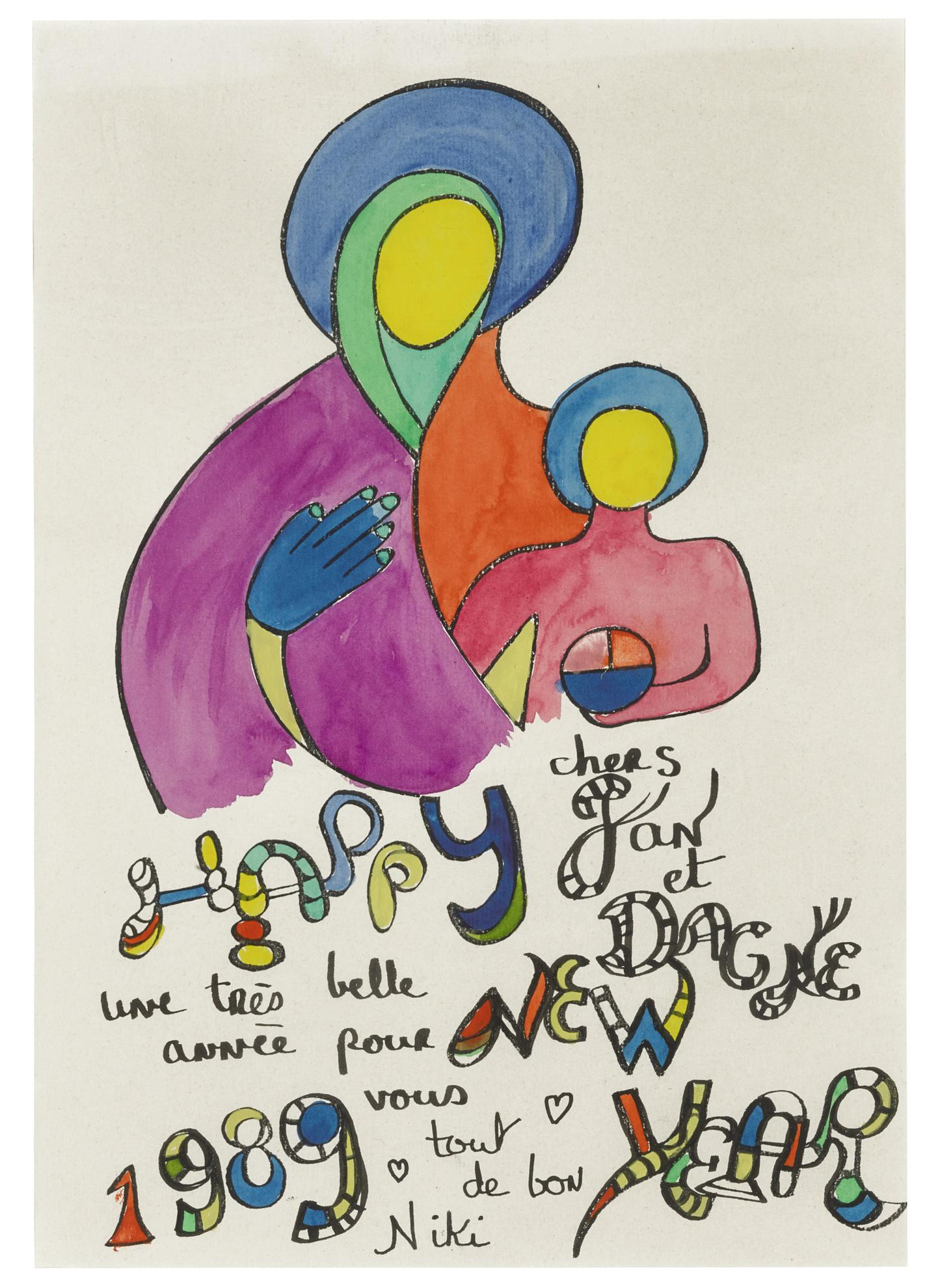 Niki De Saint-Phalle - Happy New Year, 1989-1989