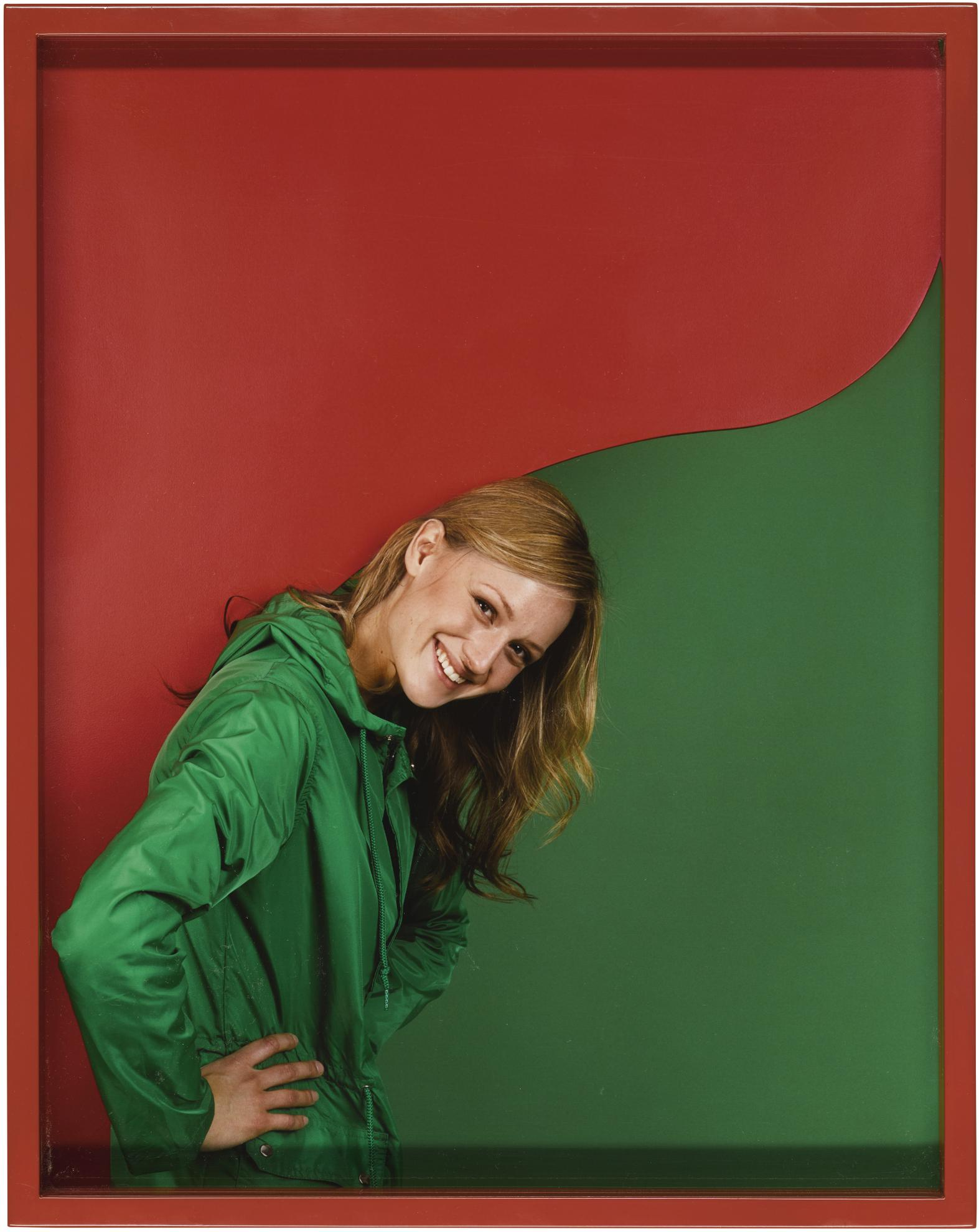 Elad Lassry-Girl (Green/Red)-2011