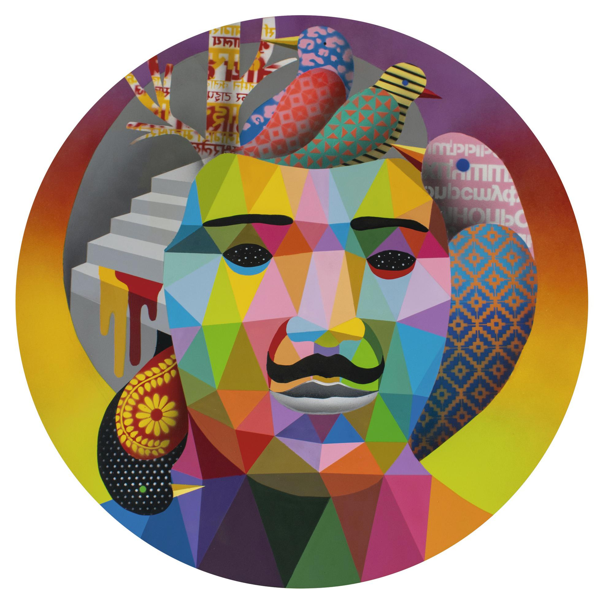 Okuda San Miguel-Birds Inside My Head-2018