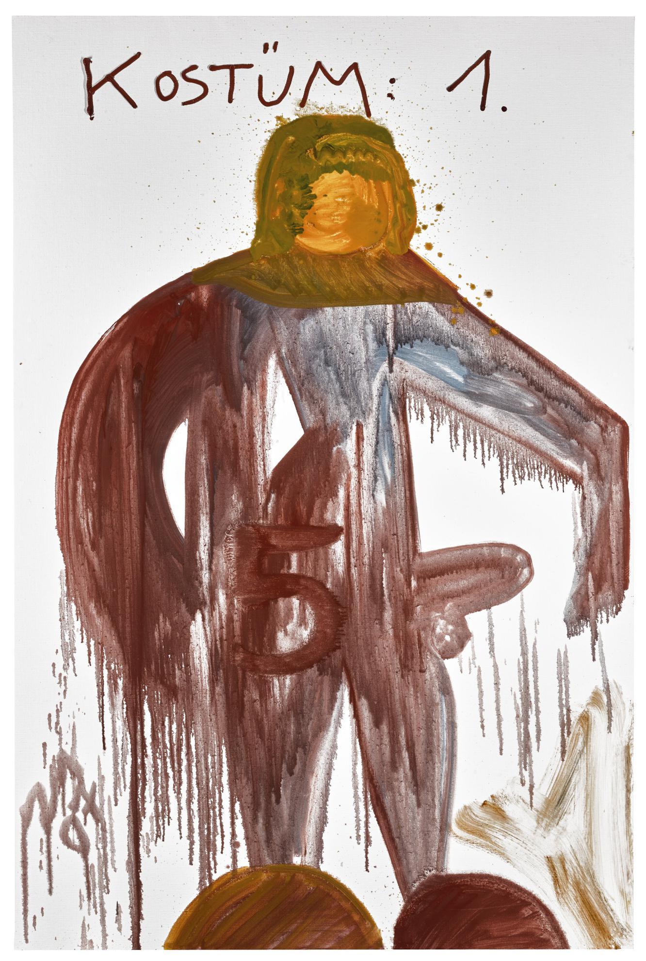Jonathan Meese-Kostum Backenbart Vom Zacknbarschi Nopponnon-2007