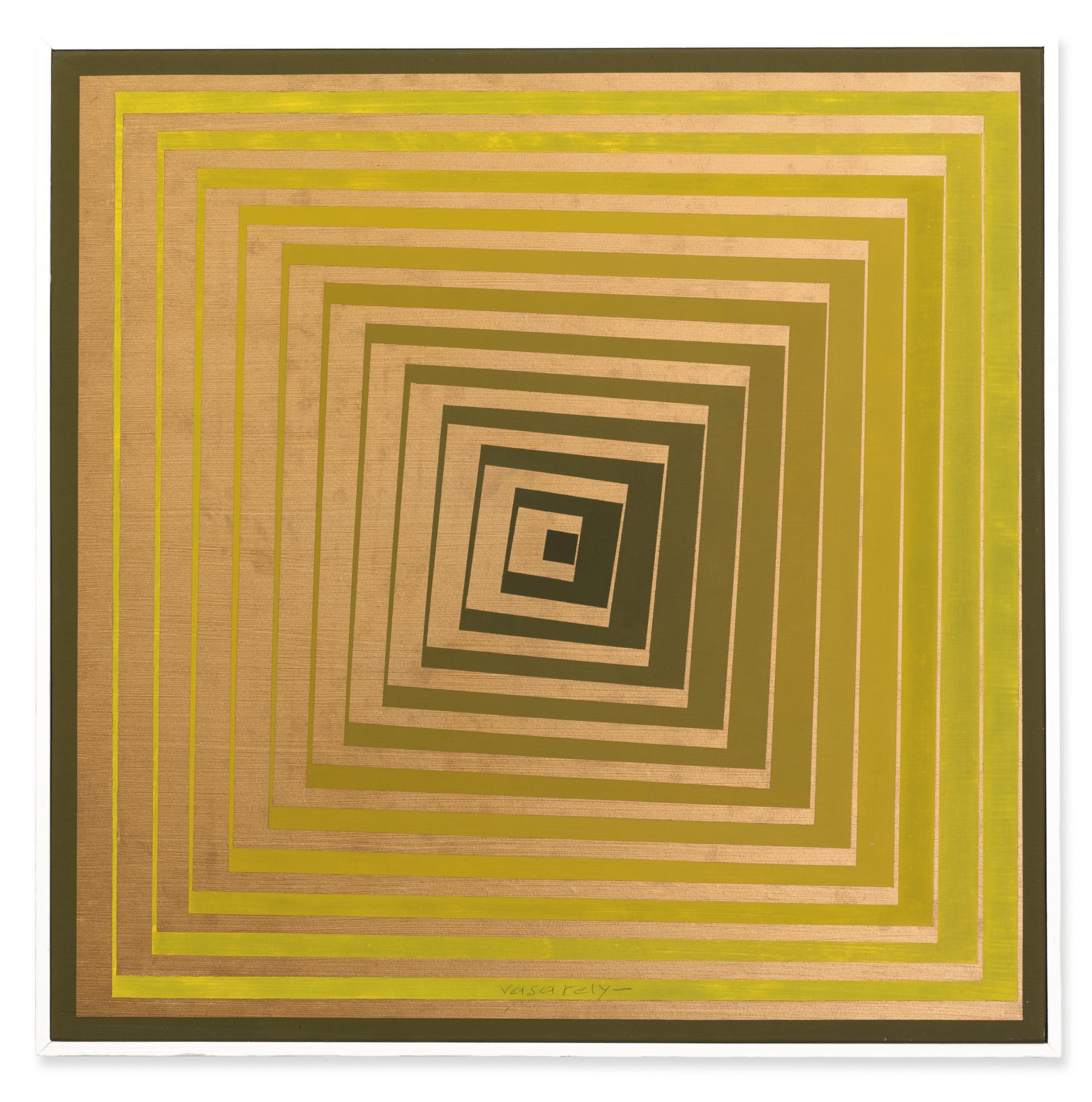 Victor Vasarely-Vonal Or-1968