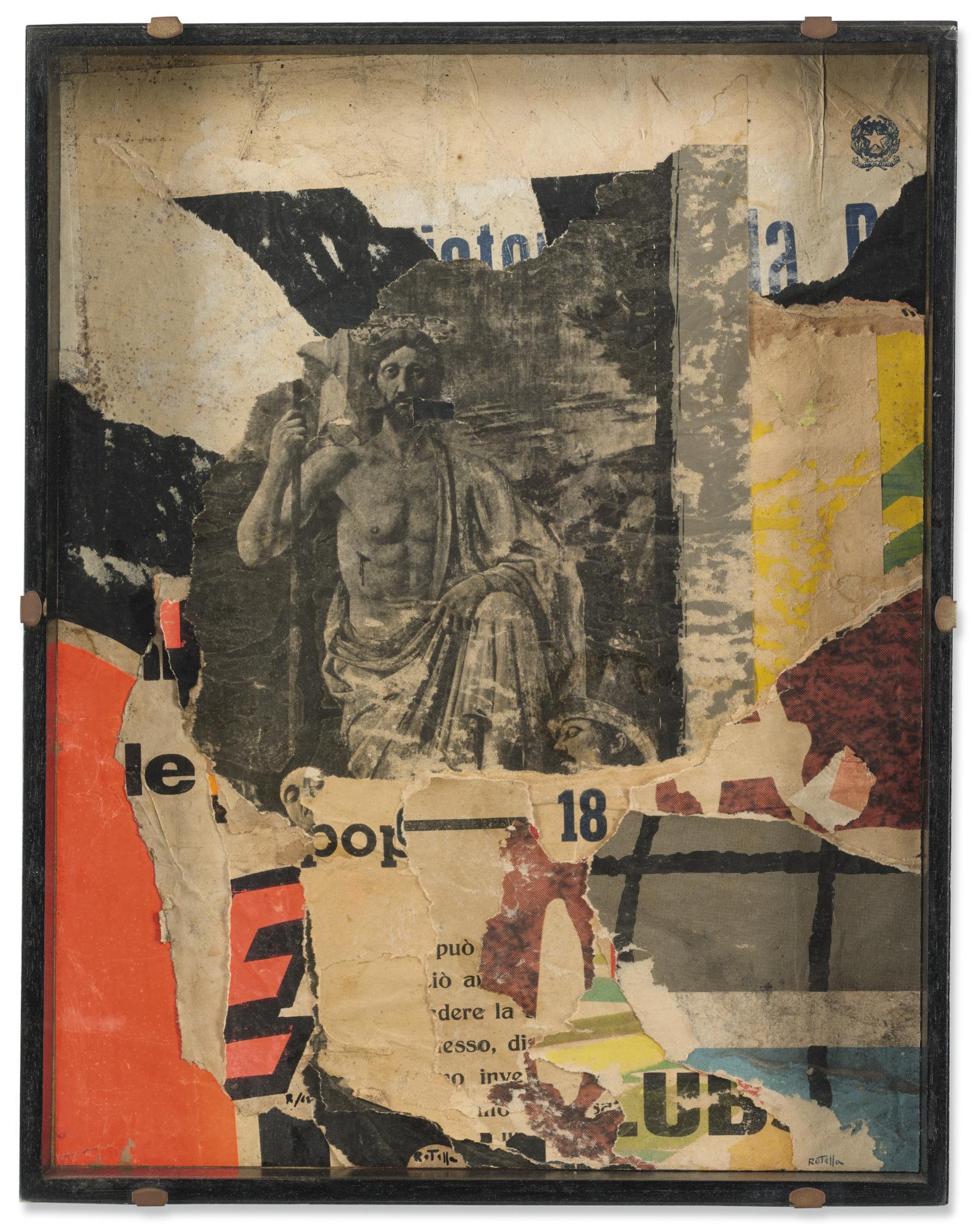 Mimmo Rotella-Il Redentore-1962