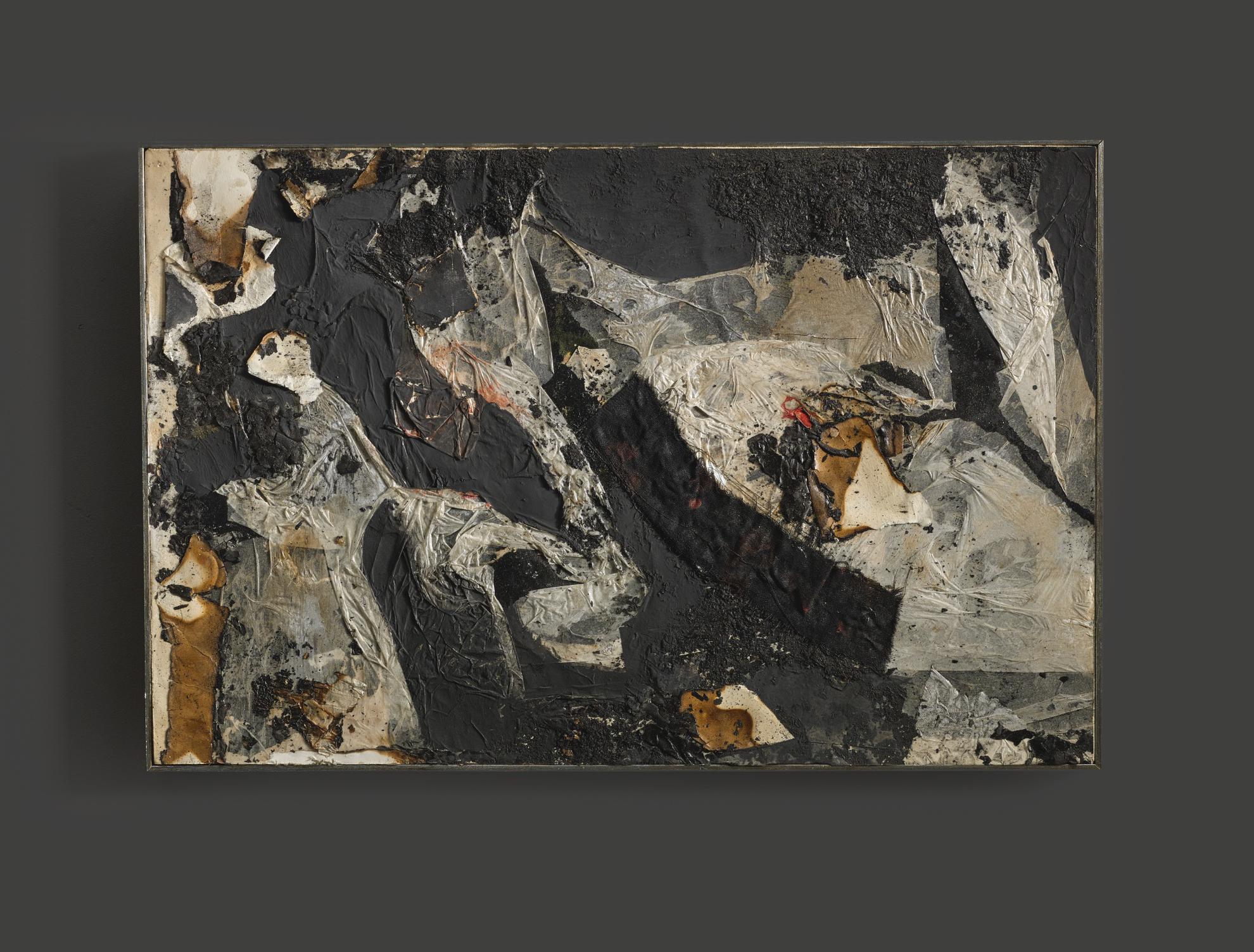 Alberto Burri-Combustione-1961