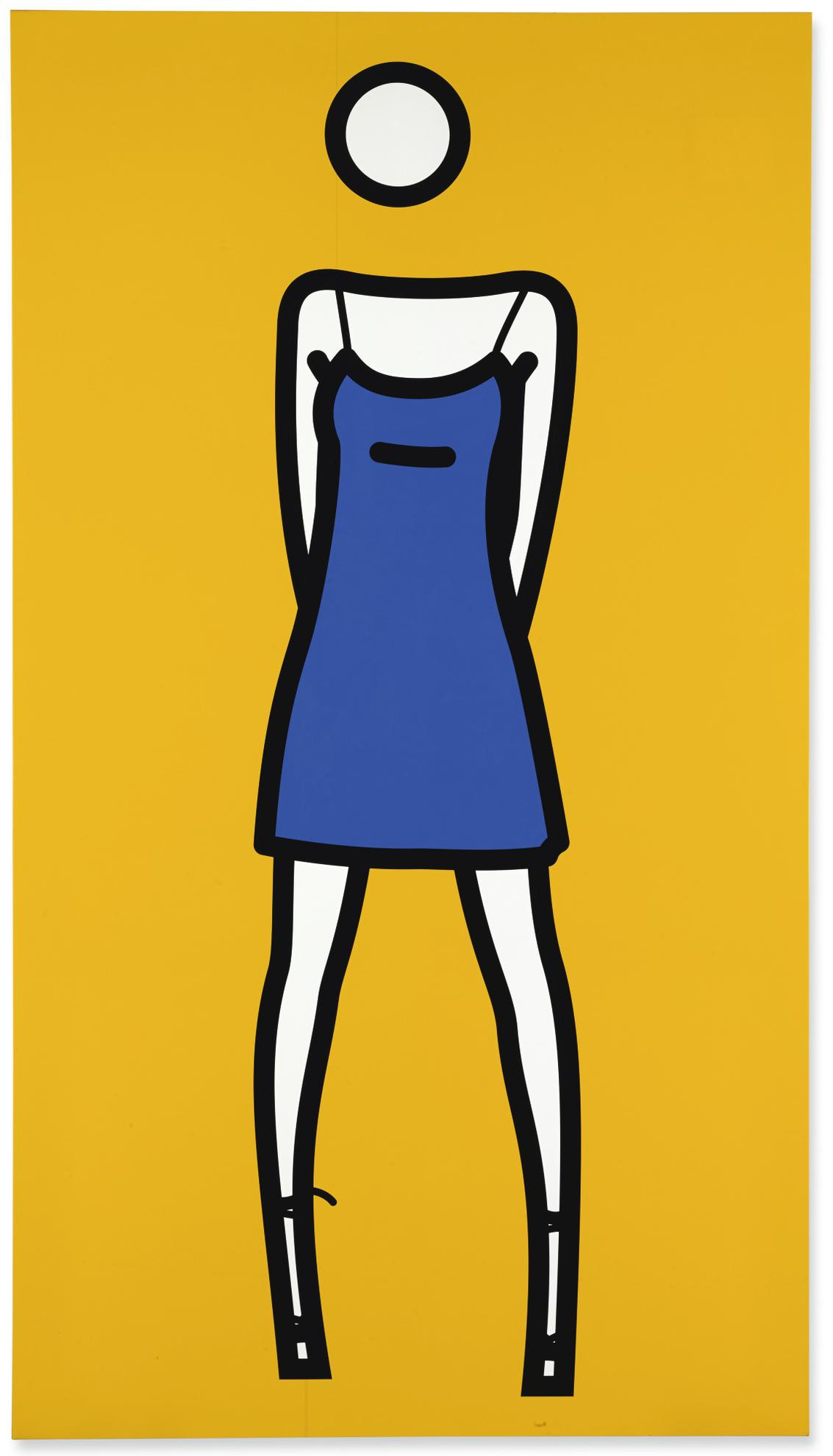 Julian Opie-Woman Posing In Summer Dress 2-2003