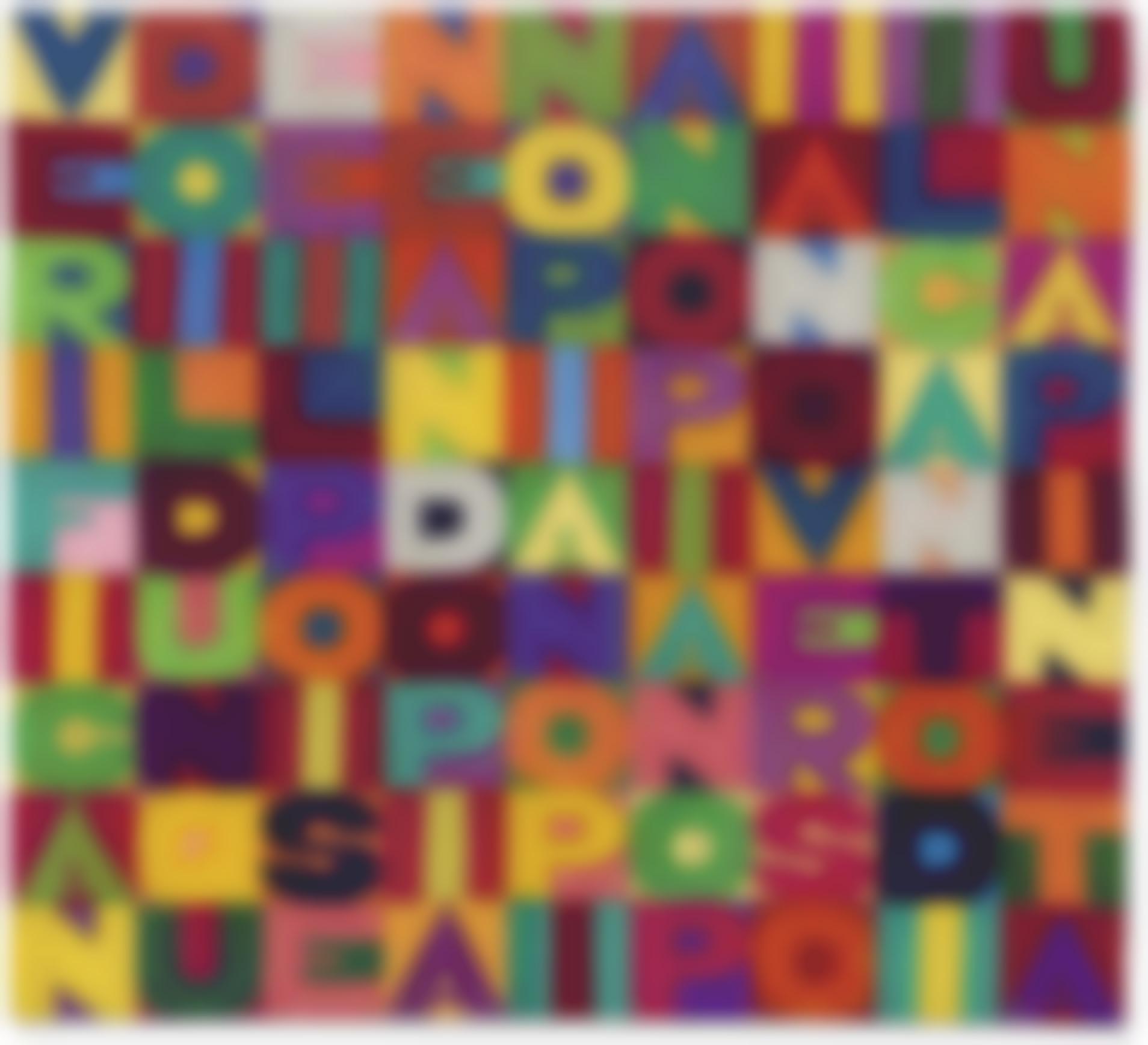 Alighiero Boetti-Verificando Il Dunque E Il Poi Se Ne Ando Piano Piano Piano Piano Piano Verso Il Canto Di Una Pineta-1990