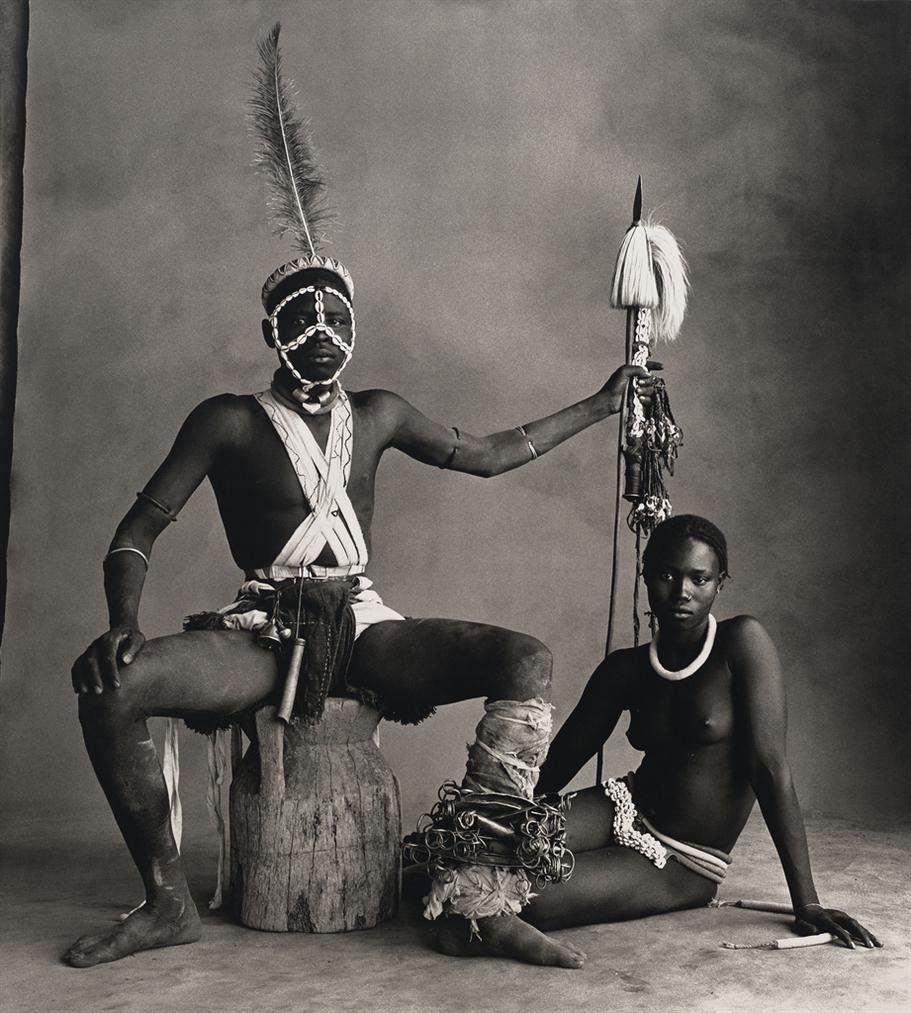 Irving Penn-Seated Warrior, Sitting Girl, Cameroon-1969