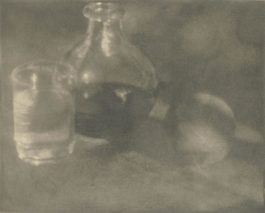 Heinrich Kuhn-Stillleben Mit Karaffe, Glas Und Pfirsich-1911