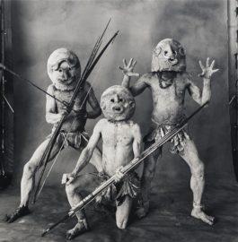 Irving Penn-Three Asaro Mudmen, New Guinea-1970