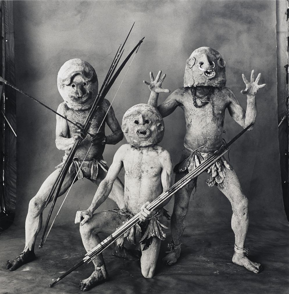 Irving Penn-Three Asaro Mudmen, New Guinea-1970