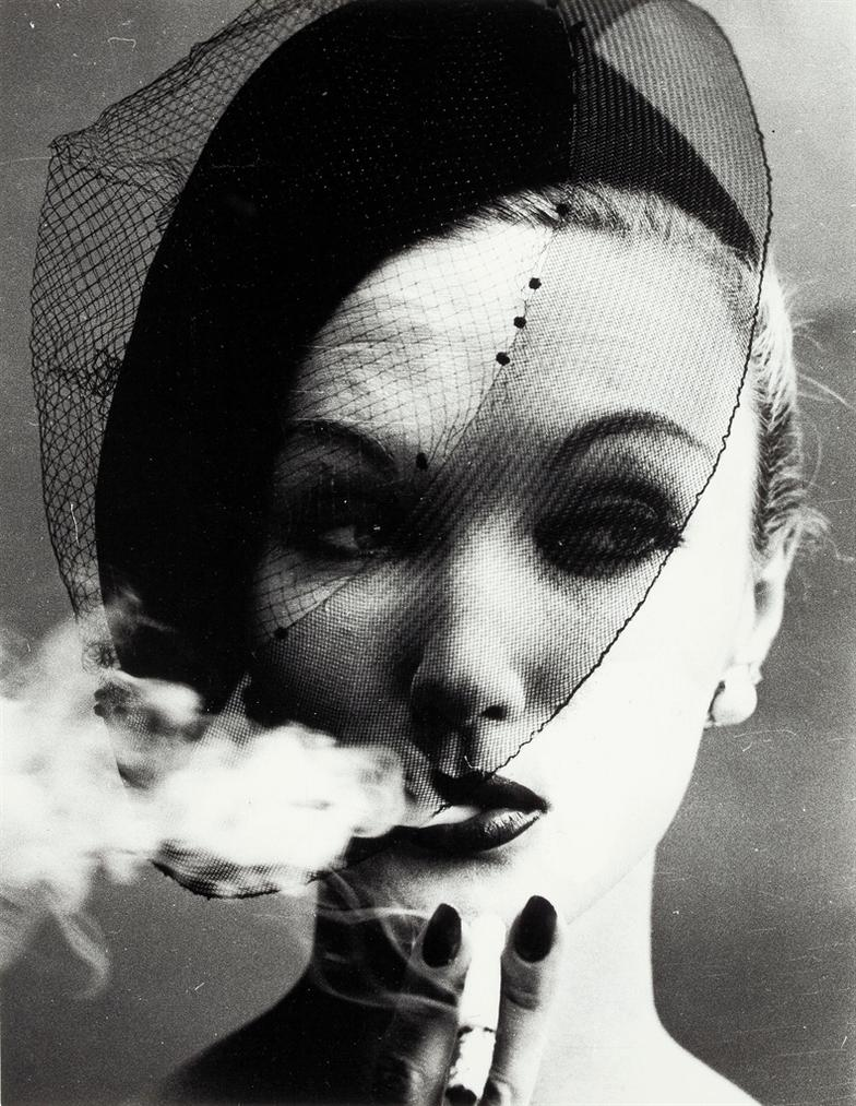 William Klein-Smoke + Veil, Paris, Vogue-1958