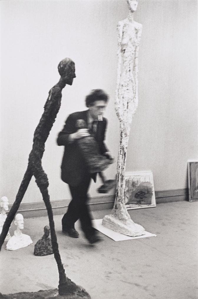 Henri Cartier-Bresson-Alberto Giacometti A La Galerie Maeght, Paris-1961