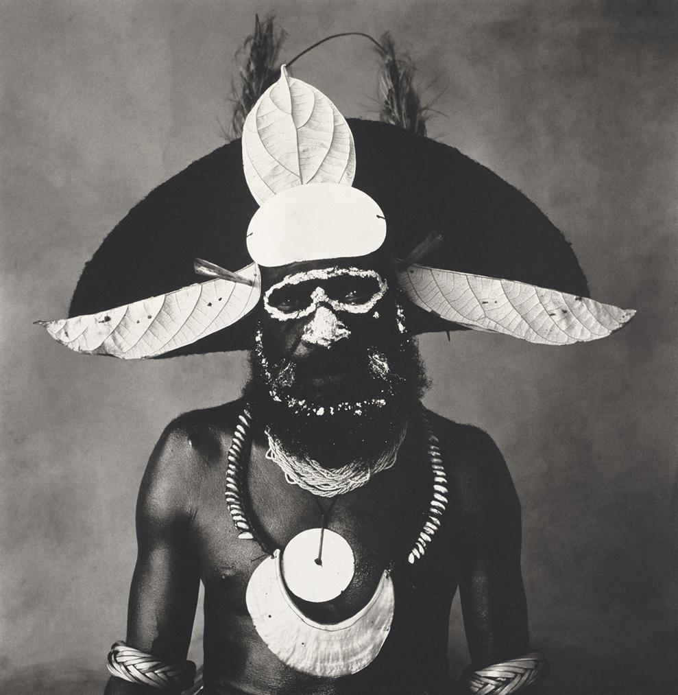 Irving Penn-New Guinea Man With Painted On Glasses-1970