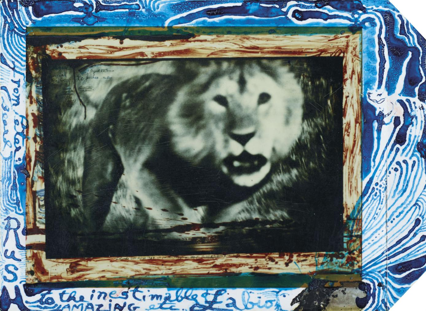 Peter Beard-Loliondo Lion Charge, De La Serie The End Of The Game-1964