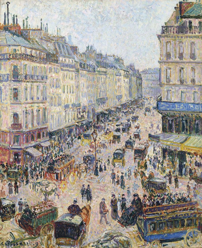 Camille Pissarro-La Rue Saint-Lazare, Temps Lumineux-1893