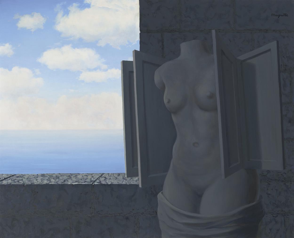 Rene Magritte-La Statue Volante-1964