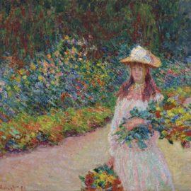 Claude Monet-Jeune Fille Dans Le Jardin De Giverny-1888