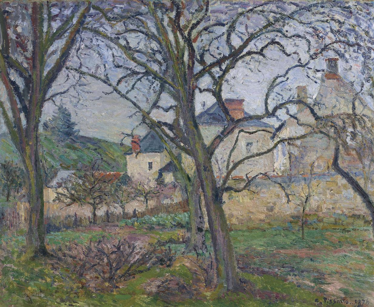 Camille Pissarro-Le Jardin De Maubuisson, Vu Vers La Cote Saint-Denis, Pontoise-1876
