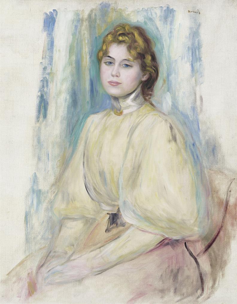 Pierre-Auguste Renoir-Portrait De Mademoiselle Yvonne Lerolle-1894
