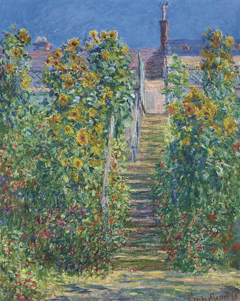 Claude Monet-Lescalier A Vetheuil-1881