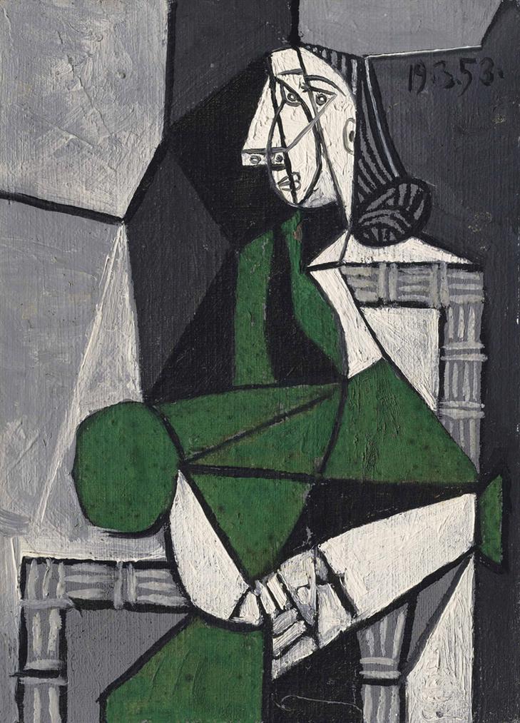 Pablo Picasso-Femme Assise (Francoise)-1953