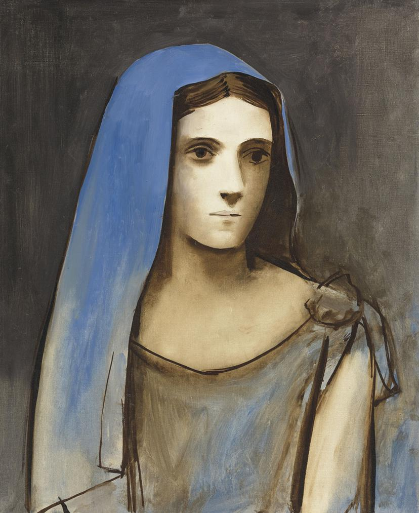 Pablo Picasso-Buste De Femme Au Voile Bleu-1924