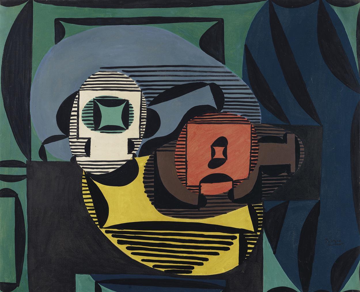 Pablo Picasso-Mandoline Sur Une Table-1922