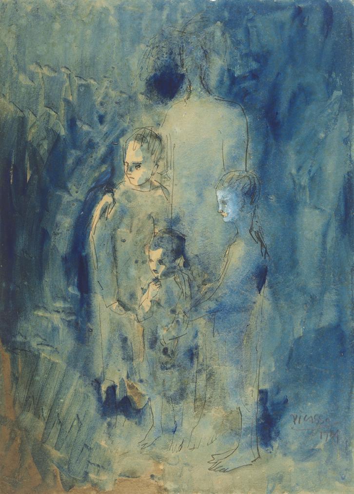 Pablo Picasso-Les Saltimbanques-1904