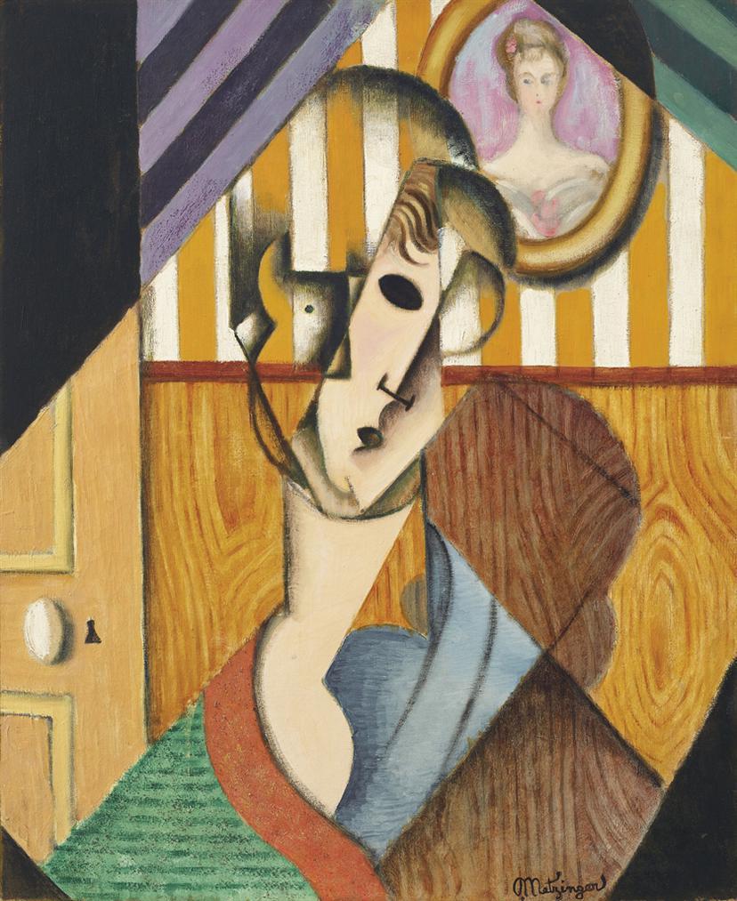 Jean Metzinger-Tete De Jeune Fille-1914