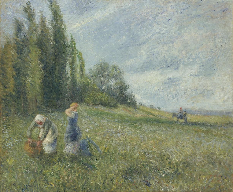 Camille Pissarro-Paysannes Dans Les Champs, Pontoise-1880