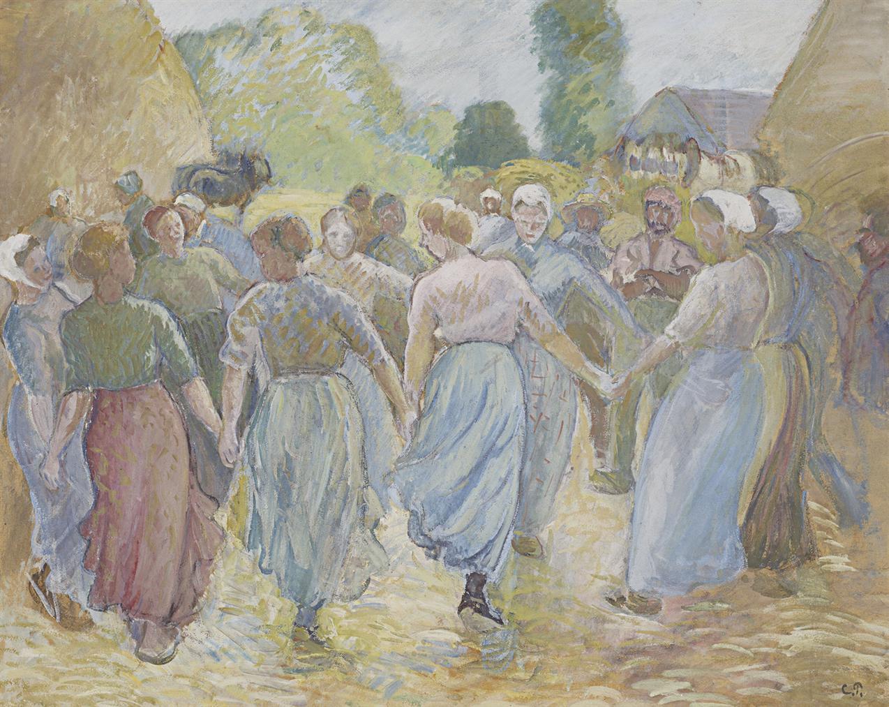 Camille Pissarro-La Ronde-1892