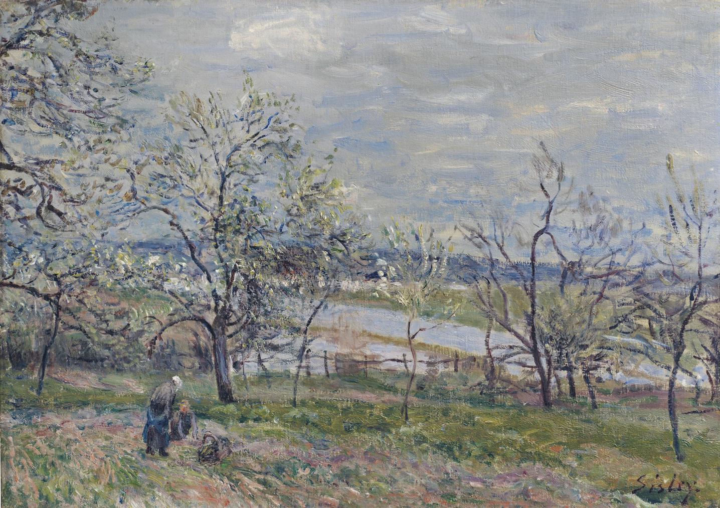 Alfred Sisley-Printemps A Veneux-Nadon-1882
