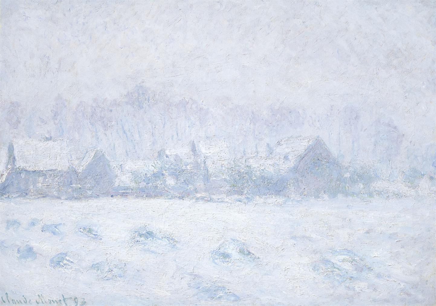 Claude Monet-Effet De Neige A Giverny-1893