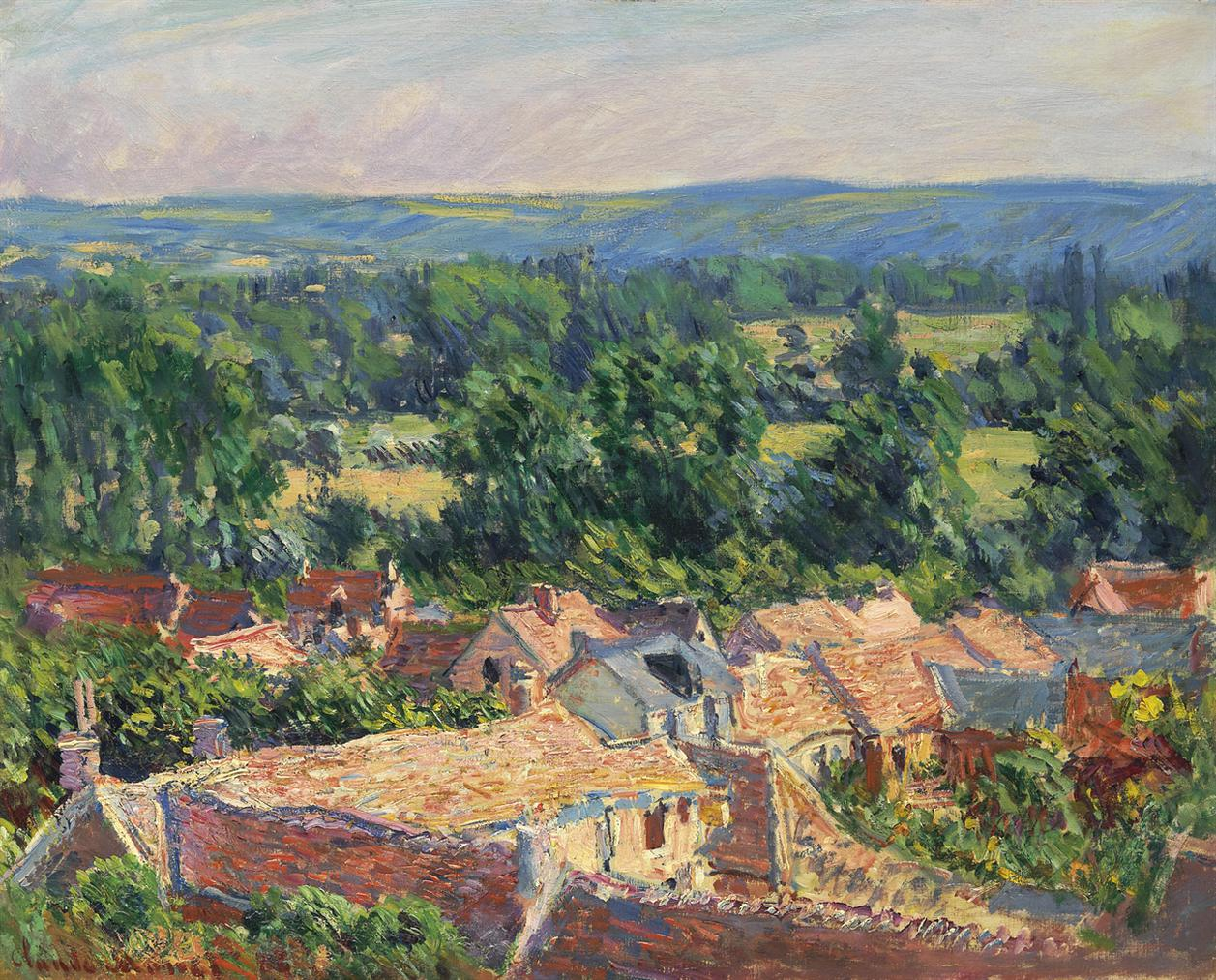 Claude Monet-Vue Du Village De Giverny-1886