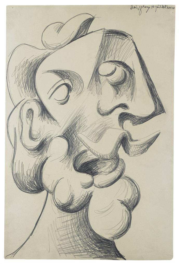 Pablo Picasso-Tete Dhomme-1934