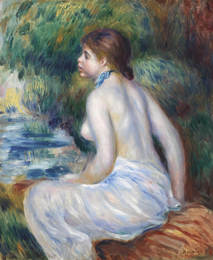 Pierre-Auguste Renoir-Baigneuse Assise-1890