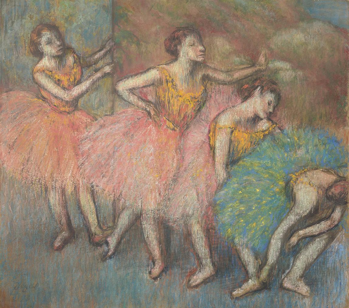Edgar Degas-Quatre Danseuses-1903
