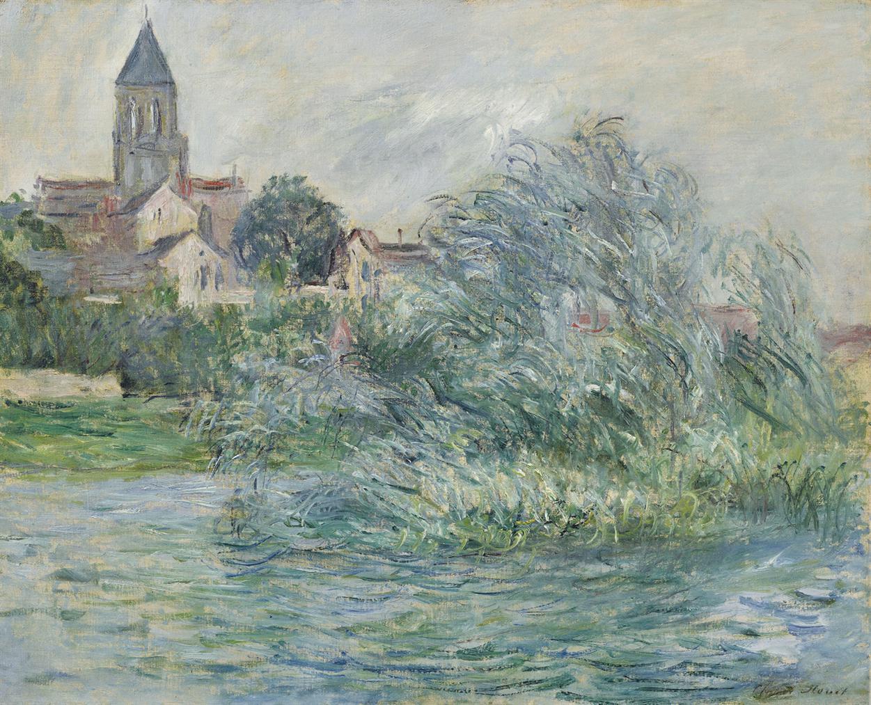 Claude Monet-Leglise A Vetheuil-1881