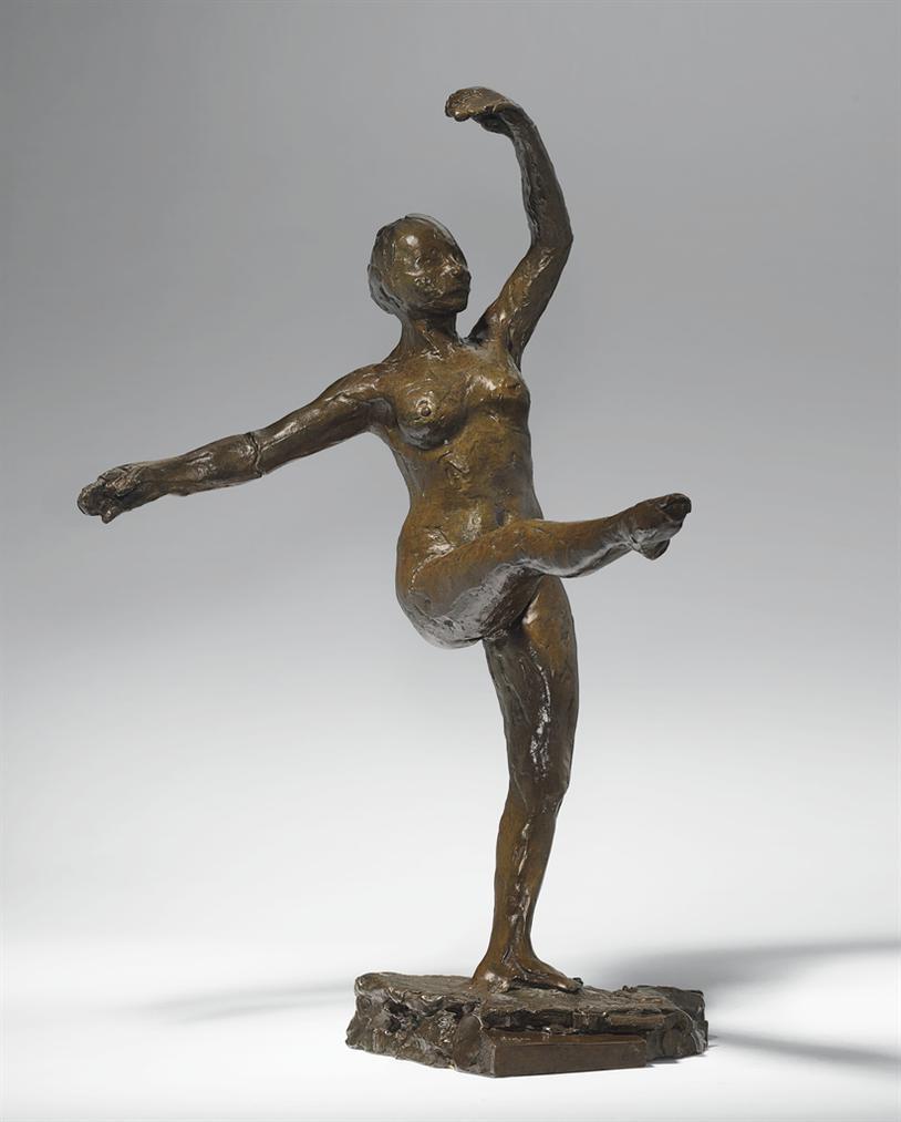 Edgar Degas-Danseuse, Position De Quatrieme Devant Sur La Jambe Gauche, Deuxieme Etude-1890