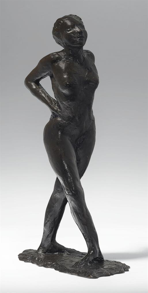 Edgar Degas-Danseuse Au Repos, Les Mains Sur Les Reins, Jambe Droite En Avant-1890