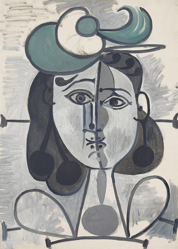 Pablo Picasso-Portrait De Francoise Gilot-1947